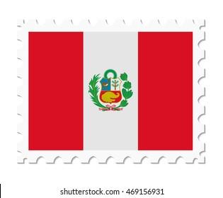 stamp flag peru