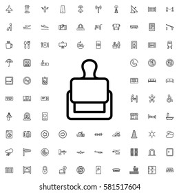stamp icon illustration isolated vector sign symbol. Airport icons set.