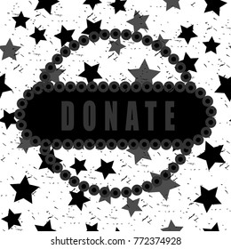 A stamp with an inscription DONATE - nice choose for everyone who want find something special for own site or design