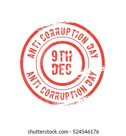 Stamp of International Anti-corruption day.