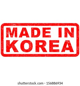 Stamp of Made in Korea