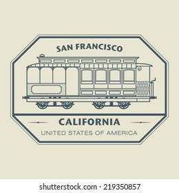 Stamp with name of California, San Francisco, vector illustration