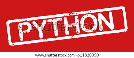 Stamp With Name Of Programming Language Python Grunge Style On White Background