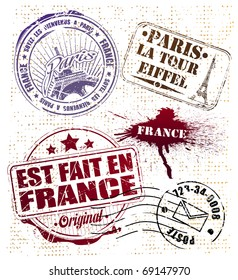 stamp set Paris