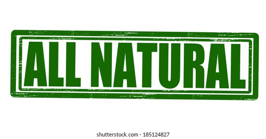 Stamp with text all natural inside,vector illustration