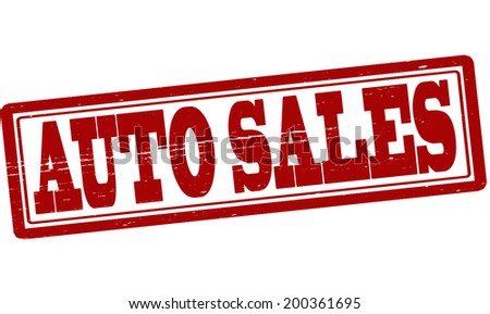 Stamp Text Auto Sales Inside Vector Stock Vector (Royalty