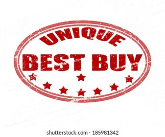 Stamp with text best buy inside,vector illustration