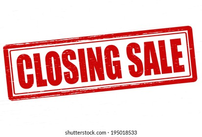 Stamp with text closing sale inside, vector illustration