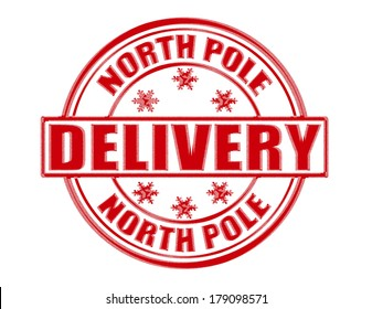 Stamp with text delivery inside, vector illustration