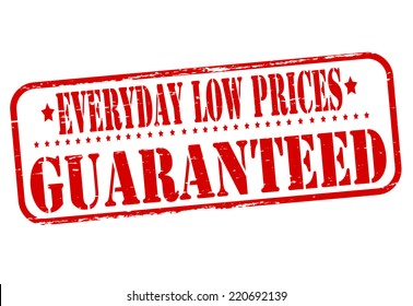 Stamp with text everyday low prices inside, vector illustration