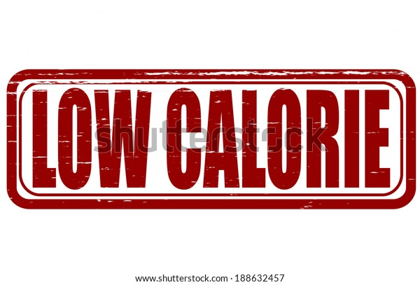 Stamp with text low calorie inside,vector illustration