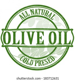 Stamp with text olive oil inside,vector illustration