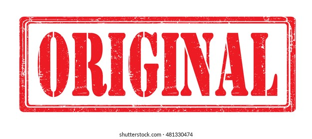 """stamp with text """"original"""" isolated on white background. Vector illustration."""