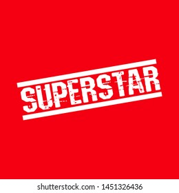 stamp with the text superstar. superstar rubber stamp, label, badge, logo,seal