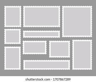 Stamp vector illustration material set