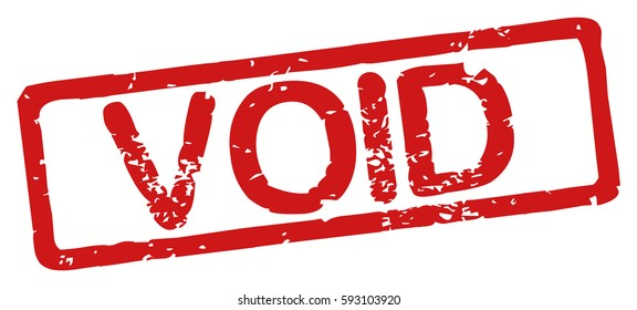 """Stamp with word """"void"""", grunge style, on white background"""