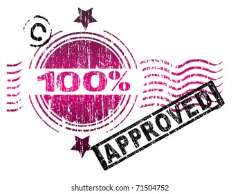 Stamps - 100% Approved. Letters have been uniquely designed and created by hand, with a grunge overlay