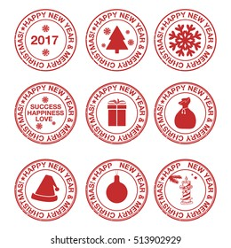 Stamps with christmas elements