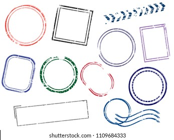 Stamps Frames vector illustration