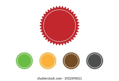 Stamps vector icons isolated on blank background