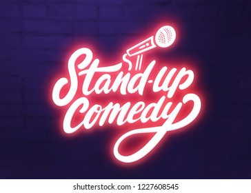 Stand up comedy background.