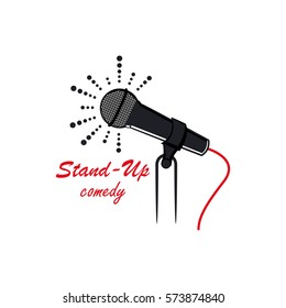 Stand up comedy logo template