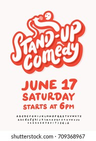 Stand up comedy. Poster template.