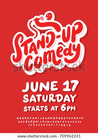 Comedy Poster Template | Stand Comedy Poster Template Stock Vector Royalty Free 709962241