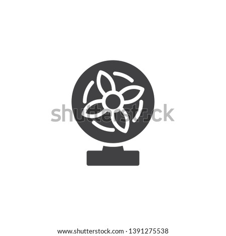 Stand Fan Vector Icon Electric Blower Stock Vector (Royalty Free