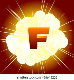 A stand in for the f-word, an f bomb graphic