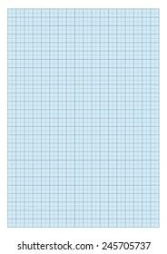 Standard A4 millimeter paper - Blue.