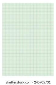 Standard A4 millimeter paper - Green.