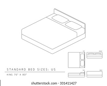 Bed Size Images Stock Photos Vectors Shutterstock