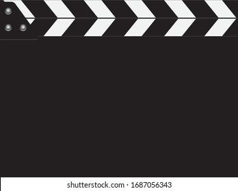 Standard movie clapperboard without a form to fill in information