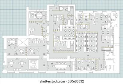 Office Building Floorplan Stock Vectors Images Vector Art