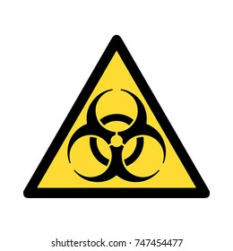 Standard Pictogam of Biological hazard Symbol, Warning sign of Globally Harmonized System (GHS)