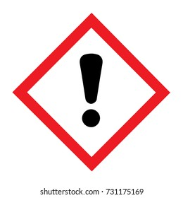 Standard Pictogam of Harmful Symbol, Warning sign of Globally Harmonized System (GHS)