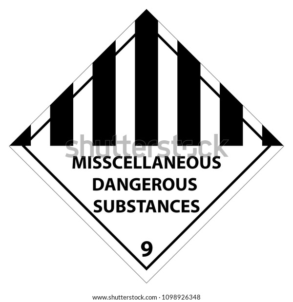 Standard Pictogam of miscellaneous dangerous substances, Warning sign of Globally Harmonized System (GHS)