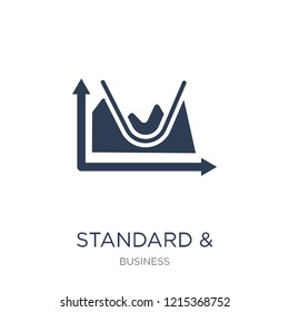 Standard & Poor's 500 stock index icon. Trendy flat vector Standard & Poor's 500 stock index icon on white background from business collection, vector illustration can be use for web and mobile, eps10