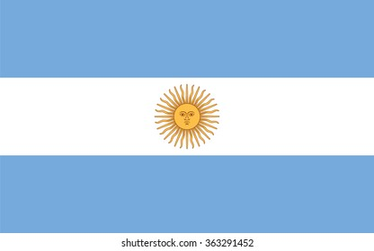 Standard Proportions and Color for Argentina Flag