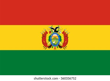 Standard Proportions and Color for Bolivia Flag