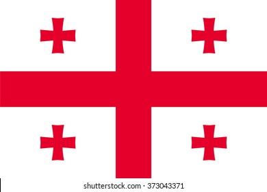 Standard Proportions and Color for Georgia Flag