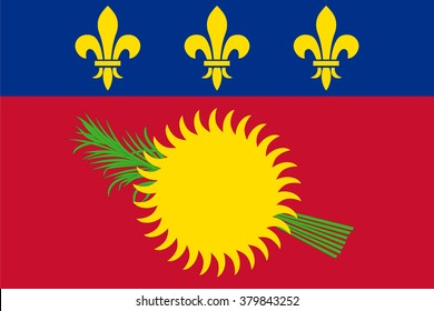 Standard Proportions and Color for Guadeloupe Flag