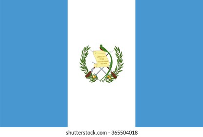 Standard Proportions and Color for Guatemala Flag