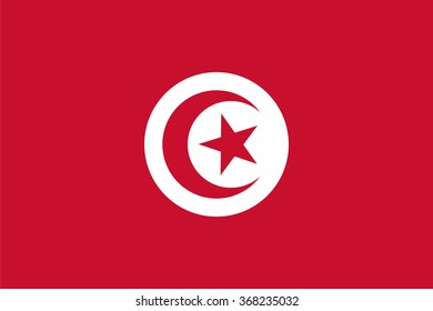 Standard Proportions and Color for Tunisia Flag