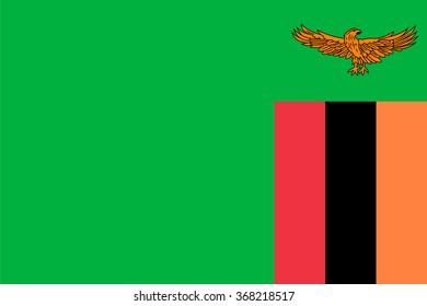 Standard Proportions and Color for Zambia Flag