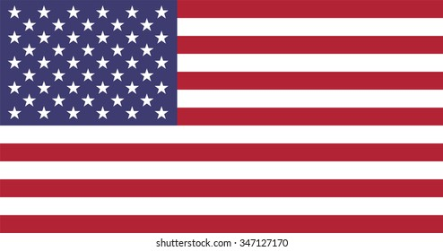Standard Proportions For The United States of America Flag