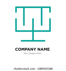 Standard of quality company logo design template, Business corporate vector icon, standard of quality symbol