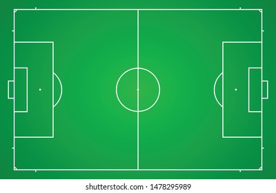 Standard size football field for use in field construction, training, learning, simulation, competition, etc.
