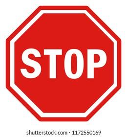 standard traffic sign Stop!